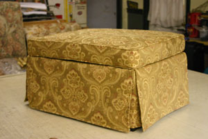 Residential Ottoman Reupholstery Furniture Repair
