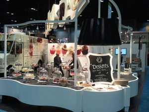 Commercial Advertising Booth: Sweet Street Desserts Display